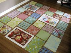 Loulouthi Tiles quilt layout (Free Pattern) by StitchedInColor, via Flickr