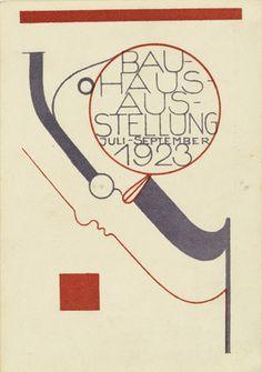 By Oskar Schlemmer (German, 1888-1943), 1923, Postcard for the Bauhaus Exhibition.
