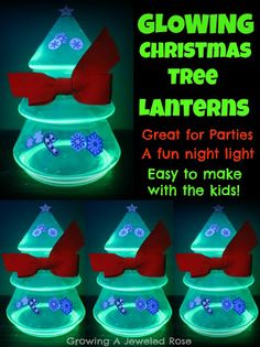 DIY Christmas Tree Lanterns - pinned by @PediaStaff – Please Visit  ht.ly/63sNt for all our pediatric therapy pins