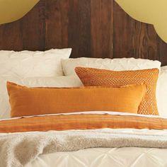 Organic Cotton Pumpkin Pillows and Blanket - #InspiredGreenLiving
