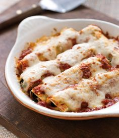 Cannelloni with Chicken Sausage & Spinach