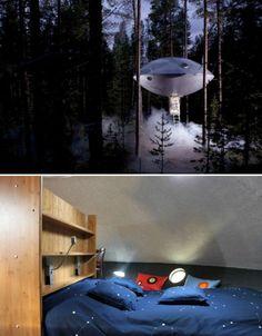 UFO sweet in the Tree Hotel in Sweden