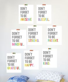 'Don't Forget to Be' Print Set