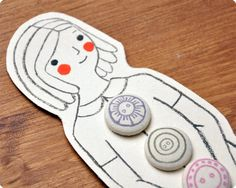 Such cute packaging for buttons!
