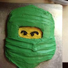 Lego birthday cake. Green Ninja.