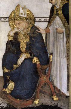 ❤ - SIMONE MARTINI (1285 -1344) - Saint Martin in Meditation, detail - 1312. Fresco, 390 x 200 cm. Cappella di San Martino, Lower Church, San Francesco, Assisi.