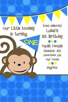 Monkey Theme 1st Birthday