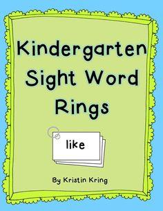 Mrs. Krings Kindergarten: Sight Word Rings