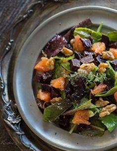 Orange Thyme Salad with Glazed Beets