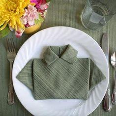 Napkin Folding - Father's Day
