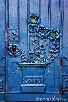 Krakow, Poland. Beautiful old theater door. Remember to comment this