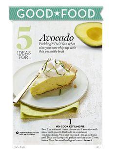 No cook Key Lime Pie.