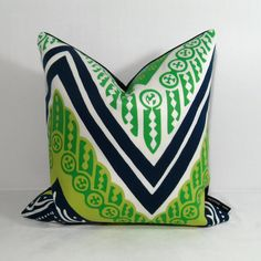SALE  Blue Green Pillow Cover  Decorative Outdoor by Mazizmuse