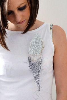 Deborah Forrest  Brooch: Knitting 2011  Silver, Vitreous enamel on copper