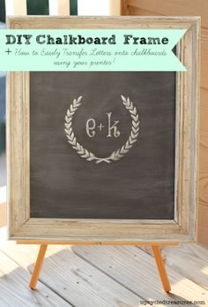 diy frame chalkboard: transfer beautiful typography to chalkboards easily with no calligraphy skills