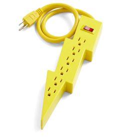 Lightning bolt power strip