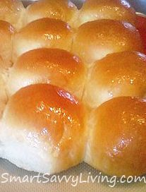 Yeast rolls.  Makes about a dozen good sized rolls (using a 9x13 or 1/2 sheet pan).