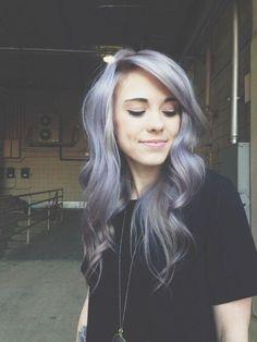 Lavender/gray hair