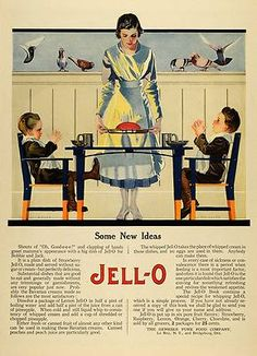 1919 Ad Jello Advertisement featuring an illustration by Coles Phillips.