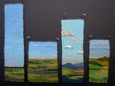 Four selvedge weaving landscapes