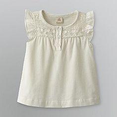 Route 66- -Infant Girl's Crochet-Neck Top