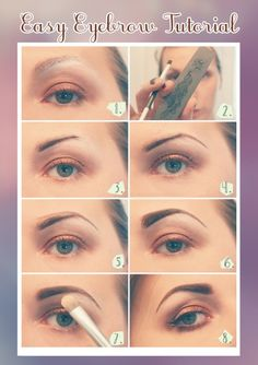how to get good eyebrows at home