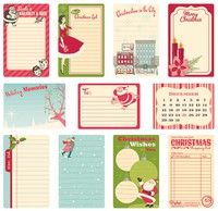 Holiday Style Collection Journaling Cards By October Afternoon
