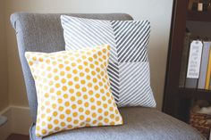 Use the Dots and Stripes decorative masks to stencil a fun pattern onto a pillow case.