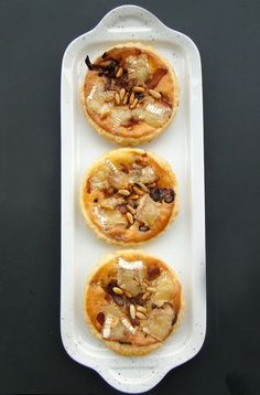 #FallForCheese:  Camembert tartles with pancetta and pine nuts
