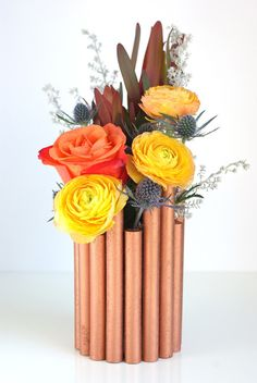 DIY Faux Copper Pipe Vase by Oleander and Palm