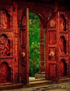 Porte indienne doors, temples, window, portal, kamru fort, india, place, templ door, gate