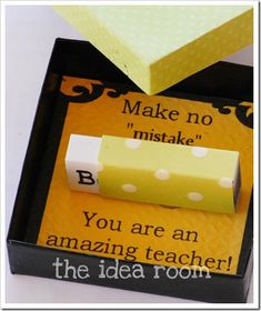 DIY custom erasers for a great, thoughtful teacher appreciation gift!