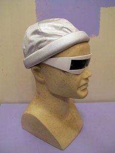 Metallic Silver Puffy Brim Skull Cap Hat Rave 90s by kokorokoko, $14.00