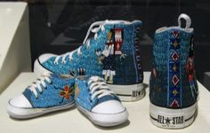 Teri Greeves fully beaded Converse All Stars