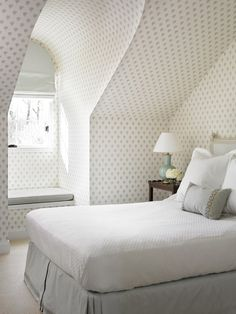 interior, allison hennessi, attic bedrooms, attic spaces, bedrooms with dormers