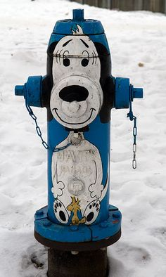 Snoopy and Woodstock fire hydrant