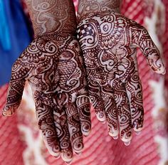 Henna tattoos often mark a special occasion for women in Mumbai.