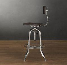 Vintage Toledo Bar Chair Polished Chrome