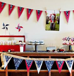 vintage tractor-inspired birthday party