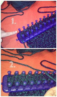 Knitting loom scarf: How to