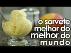 ▶ O melhor sorvete caseiro do mundo (receita fácil) - Easy Homemade Ice Cream Recipe - YouTube