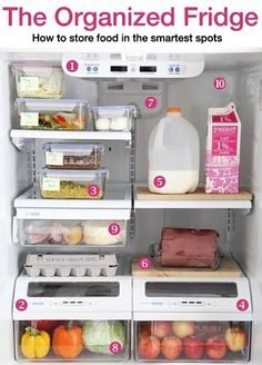 Revamp the way you store food in your #fridge with these smart tips