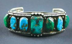 Navajo Turquoise and Silver Bracelet, circa 1920
