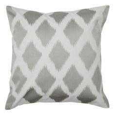 "Diamond Ikat Pillow 24"" - Grey   Pillows   Bedding-and-pillows   Z Gallerie"