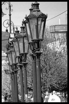 row of street lamps, Kosice, Slovakia