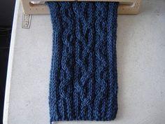 Bufanda Azul en telar Parte 1