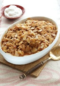 Oat-Topped Sweet Potato Crisp — Made with brown sugar, cinnamon, cranberries and apples, this recipe is quite the scene-stealer at the dinner table.