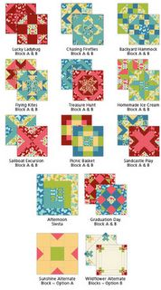 color combo, pattern, food, quilt kits, chocolate trifle, quilt blocks, sampler quilts, summer watermelon, watermelon sampler