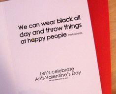 The Funniest Anti-Valentine's Day Cards @Chase Thompson