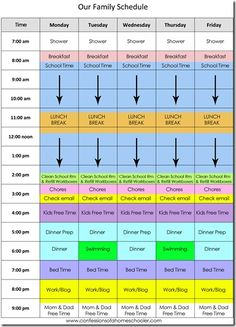 Our Daily Homeschool Schedule by Erica over at Confessions of a homeschooler
